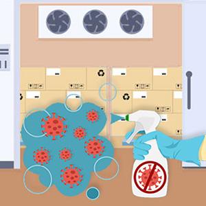 Desinfección de equipos de refrigeración y climatización